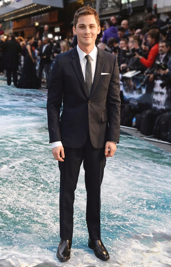 Logan Lerman in Saint Laurent - London Premiere Of 'Noah'