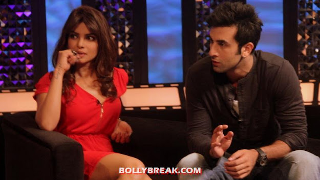 Priyanka Chopra with ranbir Kapoor at The Front Row with Anupama Chopra - Priyanka Ranbir on The Front Row with Anupama Chopra (Barfi)
