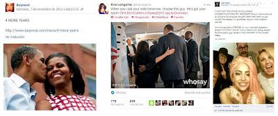 Apoyo público a Obama en las redes sociales