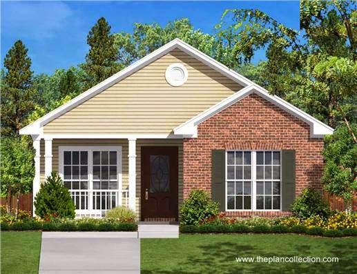 Arquitectura de casas 45 fachadas de casas peque as for Small 2 room house