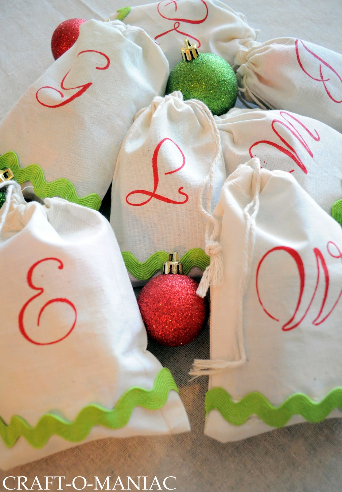 Diy Monogrammed Treat Bags Christmas Gift Idea