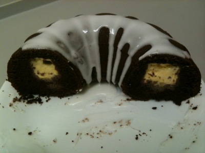 Chocolate Ice Cream Tunnel Cake
