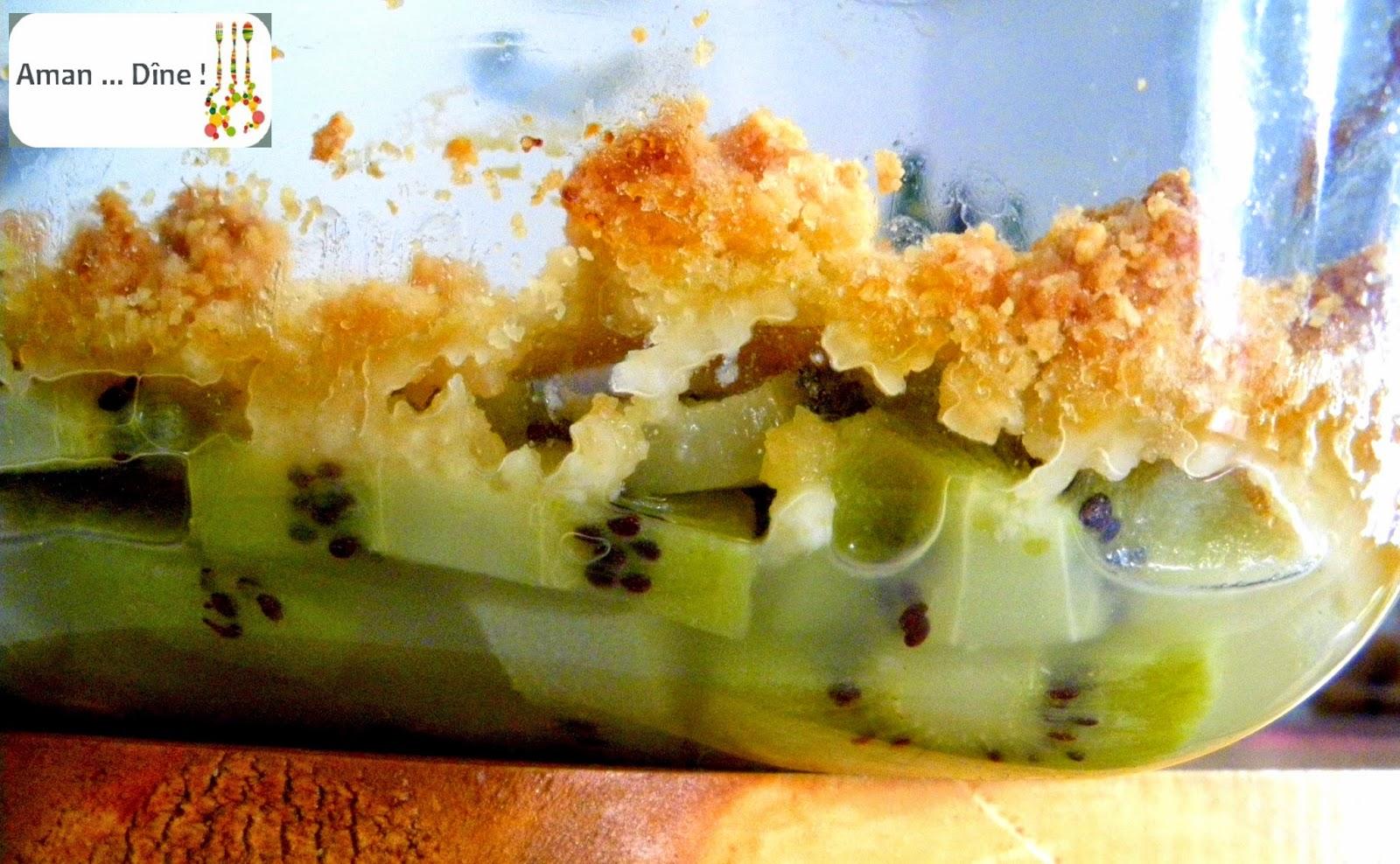 Crumble poire/kiwi