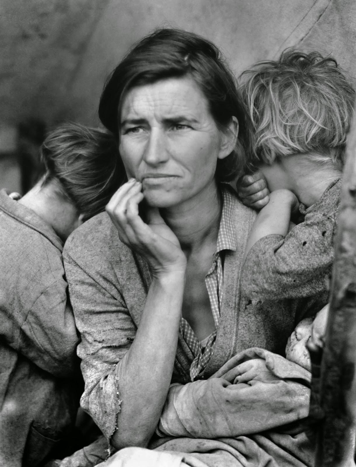 Migrante photographiée par Dorothea Lange