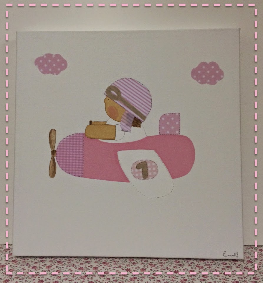 cuadro infantil rosa