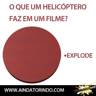 Oque um helicóptero faz em um filme?
