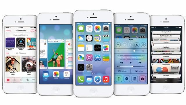 جوال أى فون 5s - وأصدار IOS 7 .