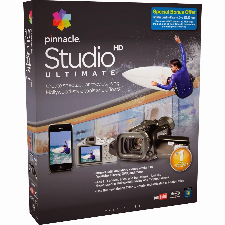 برنامج pinnacle studio 2014 للمونتاج الفيديوهات اخر اصدار