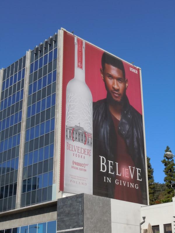 Usher Belvedere Believe Vodka billboard