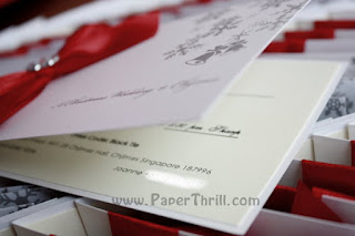 Christmas winter themed wedding invitation card