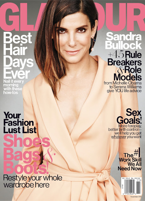 Actress @ Sandra Bullock by Matt Irwin for Glamour US, November 2015