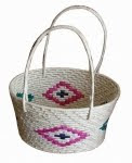 Handicraft Wicker Flat Basket