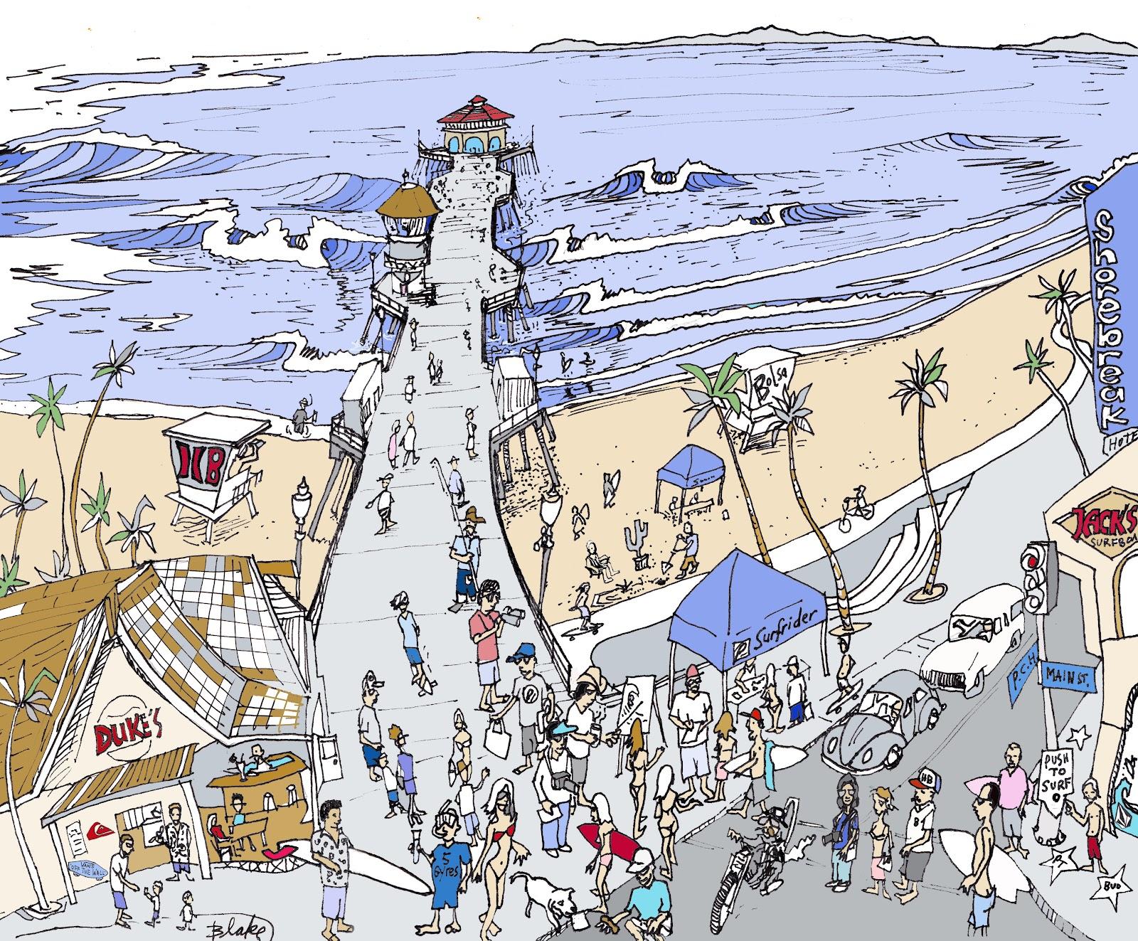 Ricky Blake Fine Art: Huntington Beach Pier View.....Art ...