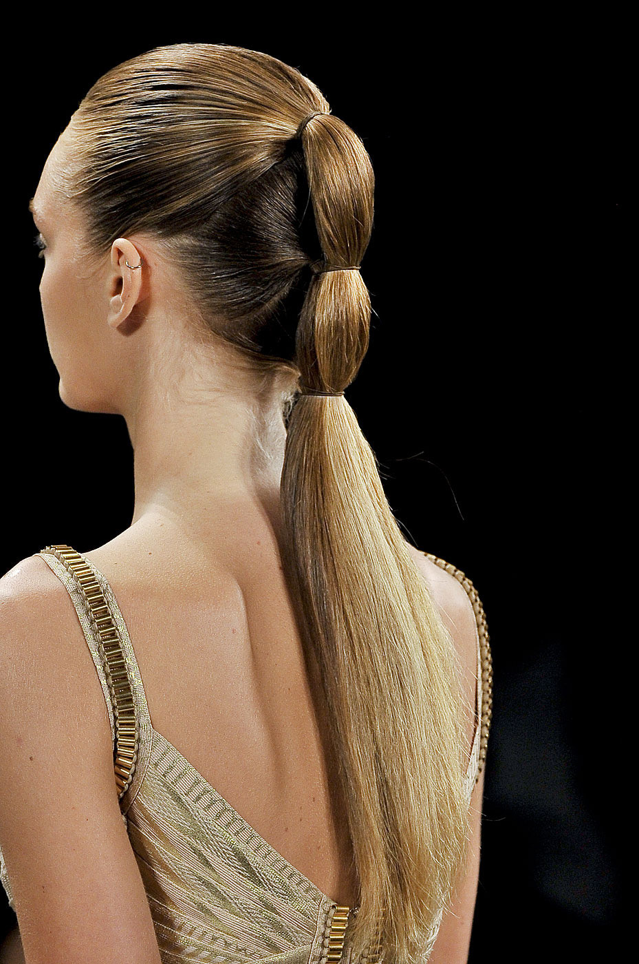 hair at Herve Leger Spring 2012