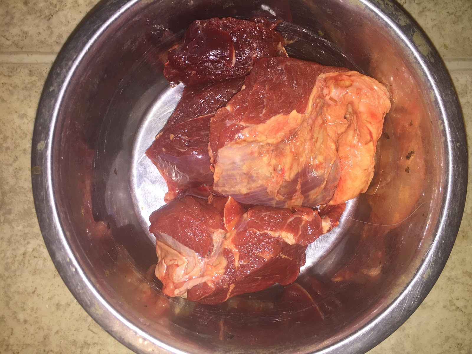 how to cook beef chunks for dogs