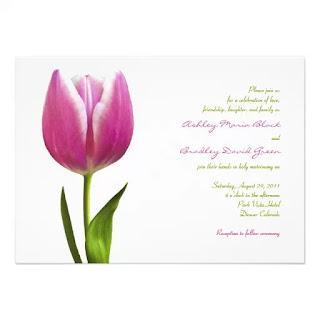 Tarjetas de Boda con Tulipanes, parte 1