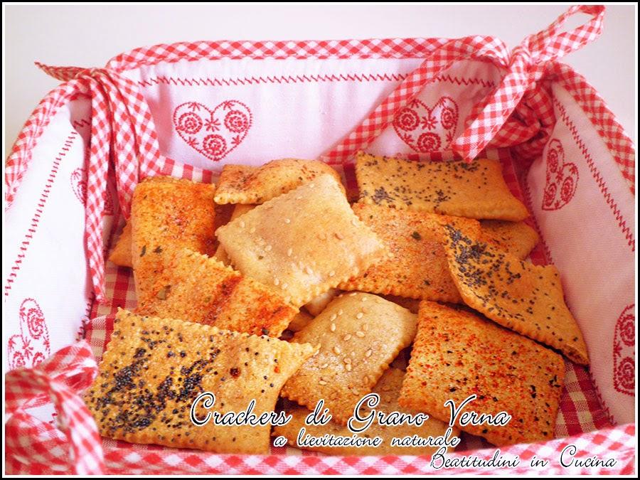 crackers di grano verna a lievitazione naturale