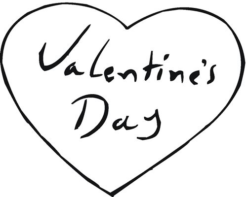 Beautiful Valentine's Day Hearts Coloring Pages