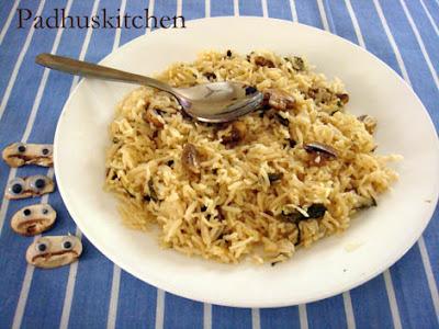Mushroom rice-Mushroom Pulao