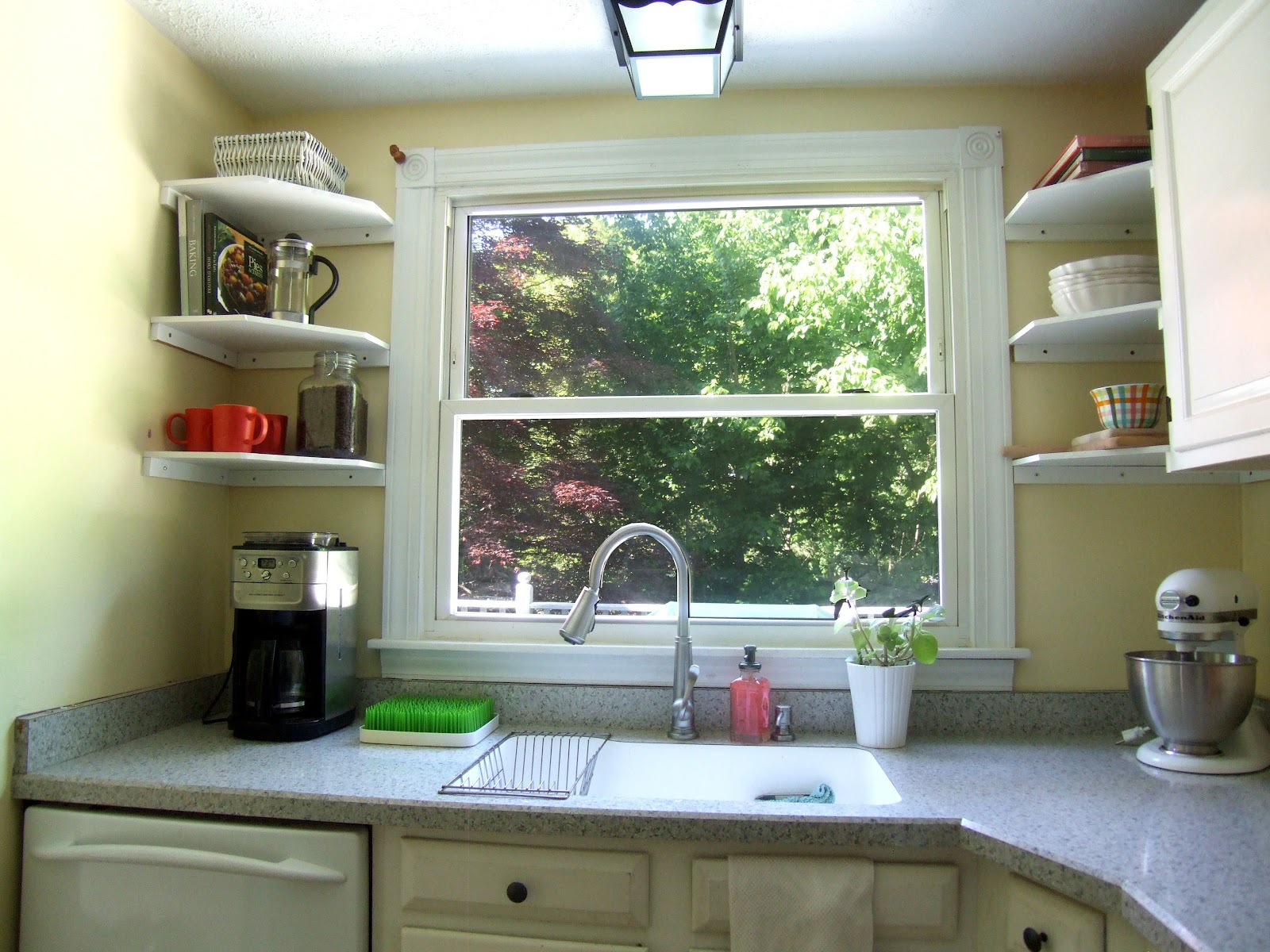 how we fixed our odd cabinet layout with diy open shelving open kitchen cabinets