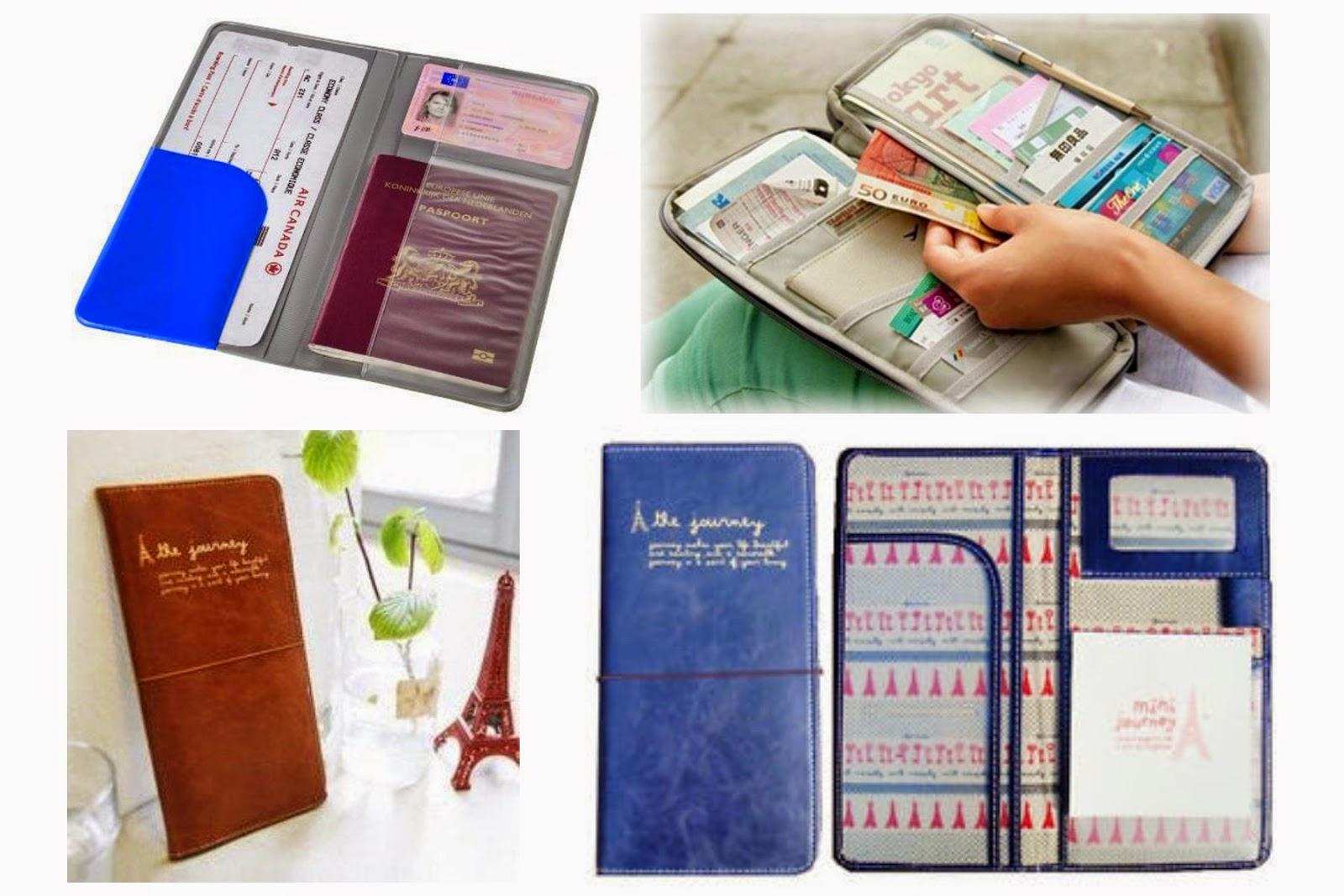 Regalos para viajeros: cartera de viaje, portadocumentos