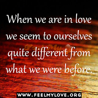 When we are in love