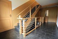 Treppenrenovierung mit Wangenverkleidung ,Podestflächen und Treppengeländer