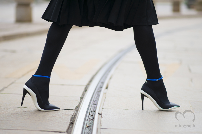 Woman wears Christian Dior High heels during Milan Fashion Week 2014 Fall Winter MFW