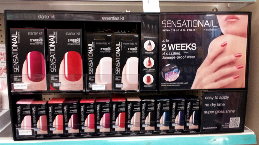 during my drugstore rounds, I spotted new gel nail polish kits by