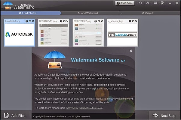 Download Watermark Software 6.4 Full keygen
