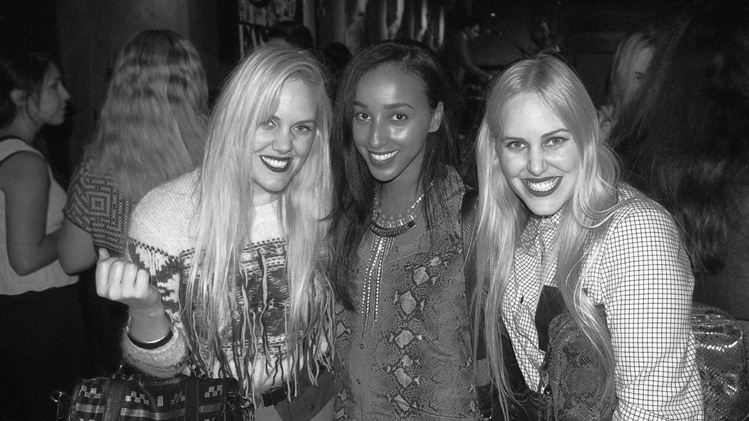 Designers Samantha (left) and Caillianne Beckerman (far right) with eLUXE's Amina Said