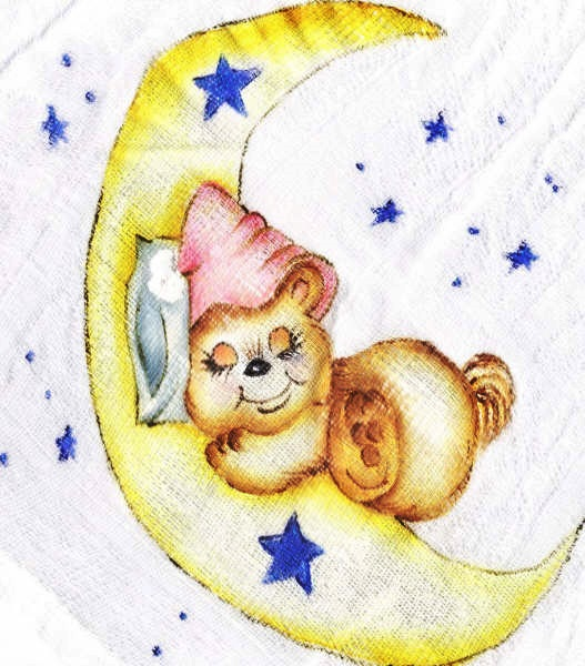 pintura em tecido infantil fralda ursinho