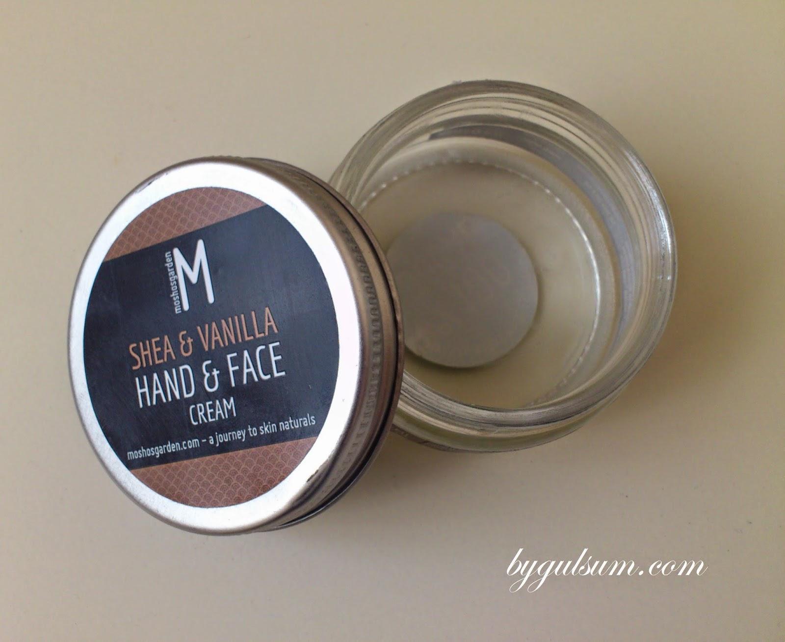Moshos Garden Shea & Vanilla Hand & Face Cream