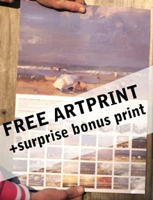 A free ARTPRINT for subscribers to my WEEKLY news!