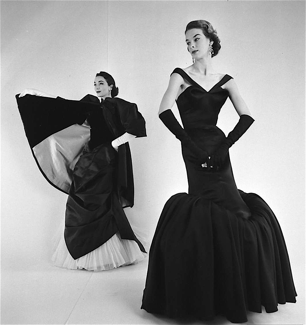 1950s fashion evening gowns
