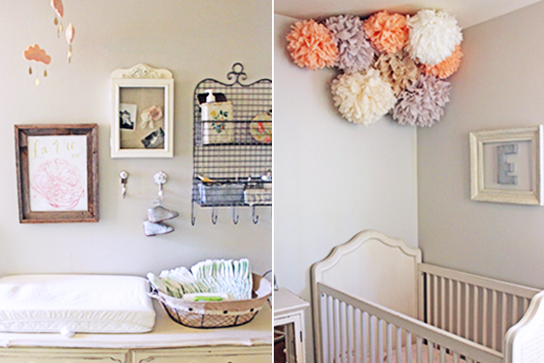 French-inspired baby girl nursery