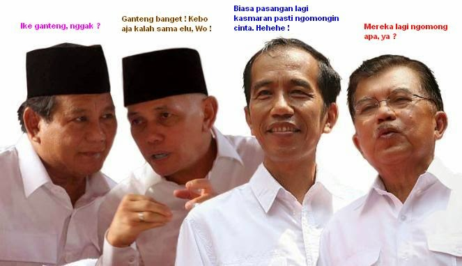 Foto Lucu Prabowo vs Jokowi