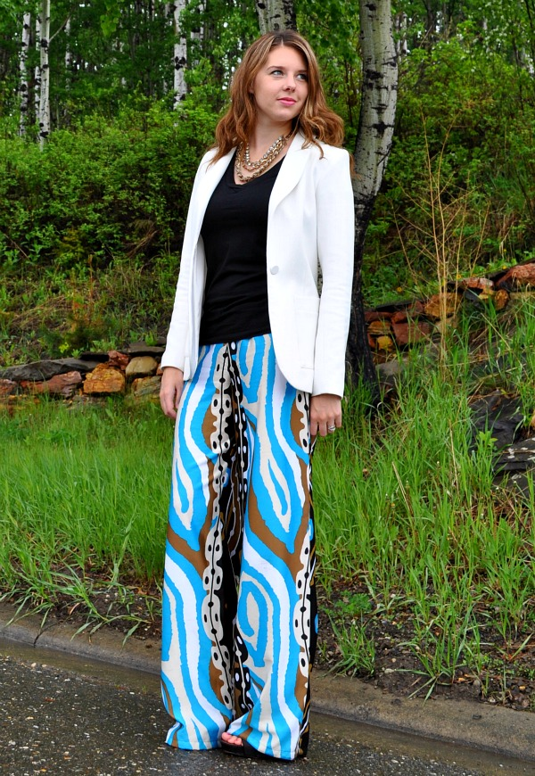 Wearing Printed Pants