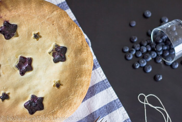 A classic homemade blueberry pie which is a delighful late summer dessert to share with your friends and family