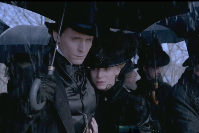 Tom Hiddleston plays a suitor with a secret, because everyone in this movie has secrets
