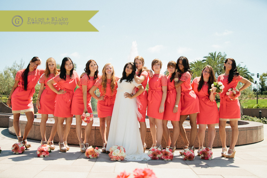 Bride and Bridesmaids with attitude  : Photo by Paige and Blake Green