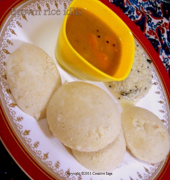 supersoft brown rice idlis