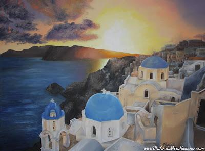 oil painting, santorini painting, travel artist, original artwork, original paintings, custom art, commission art