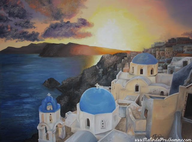 oil painting, santorini painting, travel artist, original artwork, original paintings, custom art, commission art