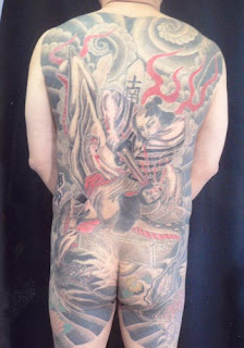 Japanese Tattoo Style Full Body Showgun Samurai Tattoo