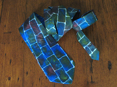 Tie painted with silk paints