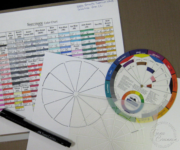 Trenas Stampin Headquarters Creating A Color Wheel With Your