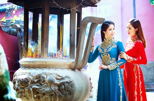 Hoa hậu Mai Phương, Thụy Quân duyên dáng với áo dài