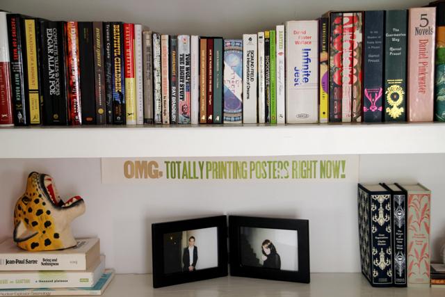 Closet Office Bookshelf