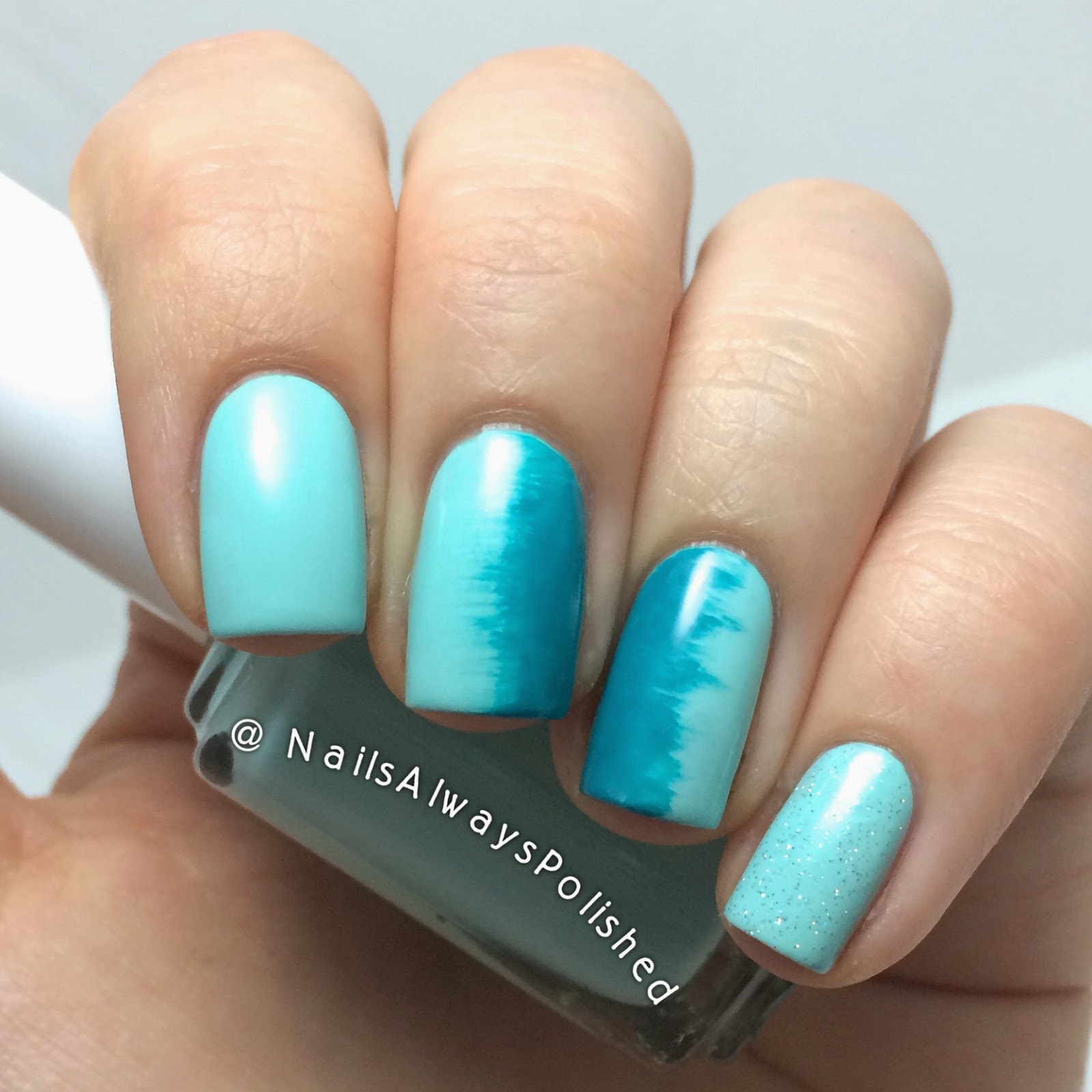 Nails Always Polished: April Nail Art Challenge: Fan Brush